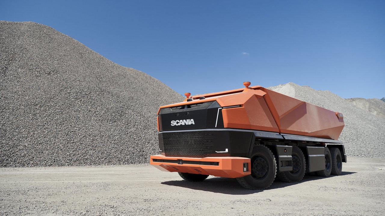 Plně autonomní nákladní vozidlo Scania AXL.