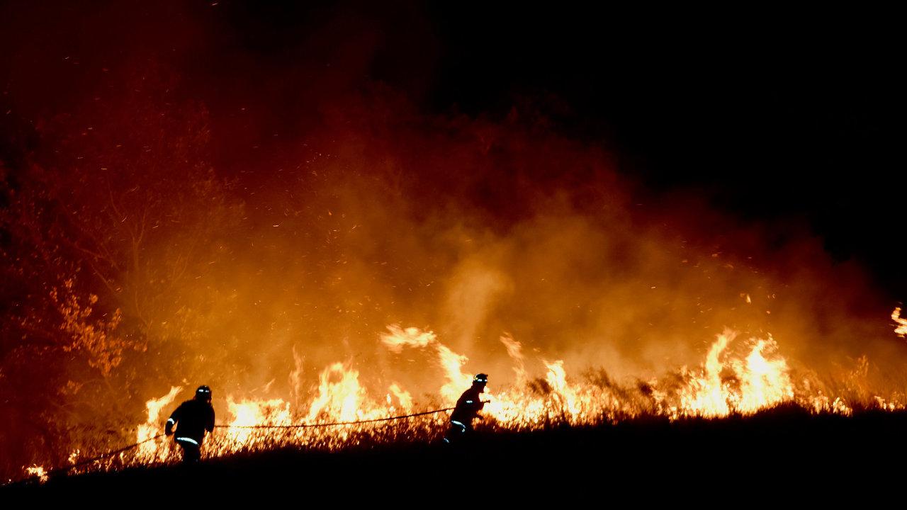 požáry Austrálie