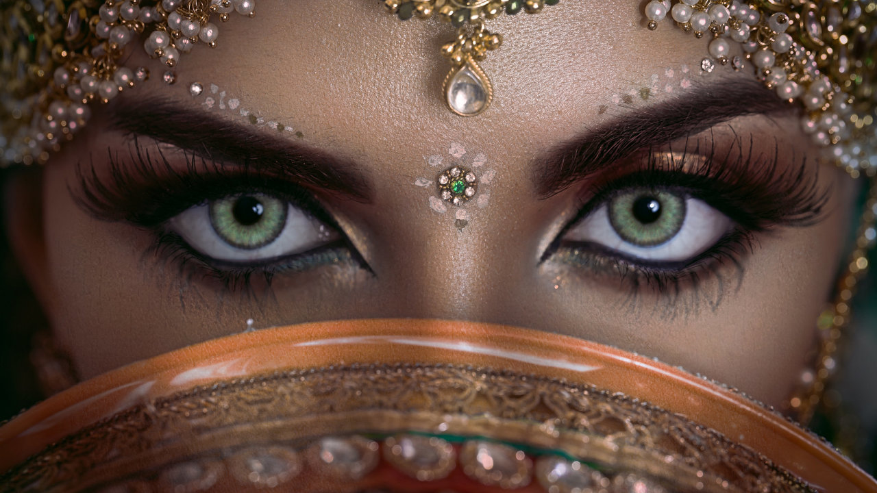 žena, oči, krása