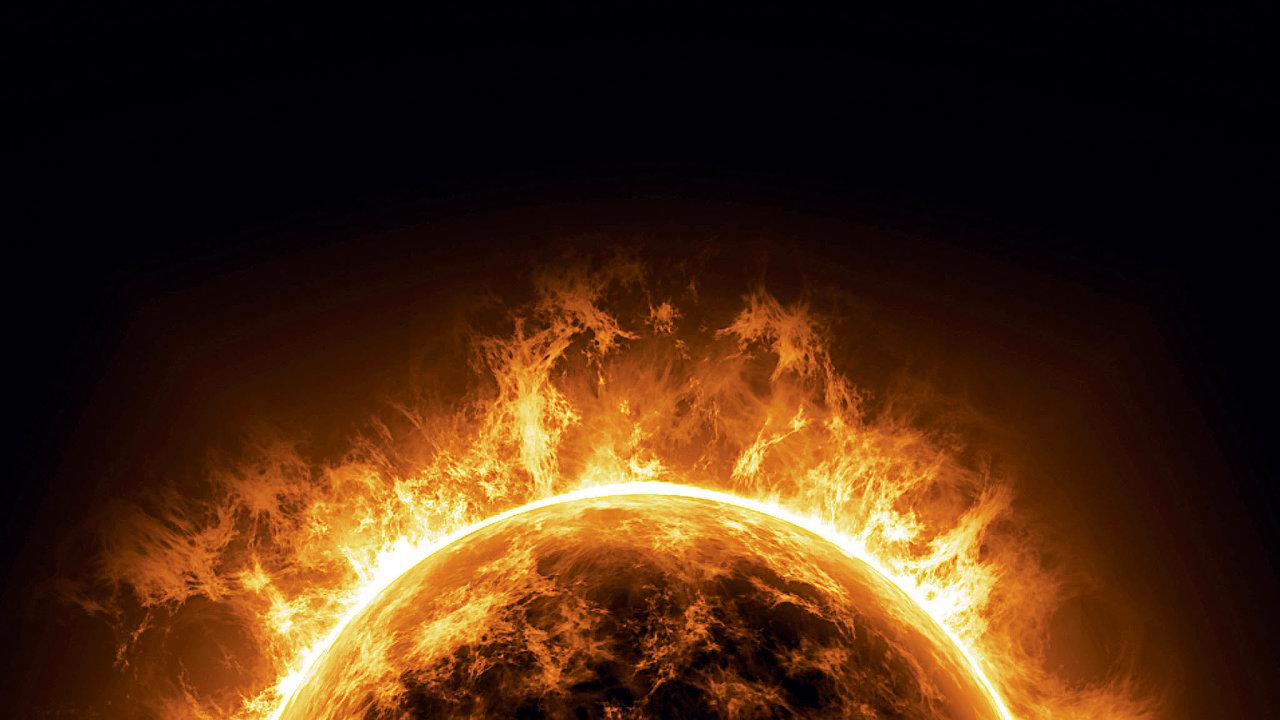 Každou sekunduse vjádru Slunce při termojaderné fúzi přemění 700 milionů tun vodíku v695milionů tun helia.