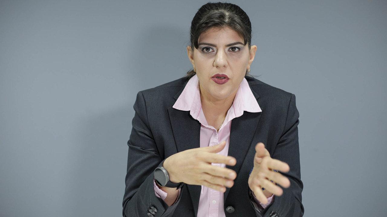 Šéfka evropských žalobců Laura Codruta Kövesiová.
