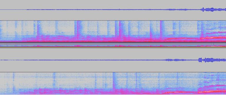 Porovnání analýzy nahraného zvuku v aplikaci Audacity