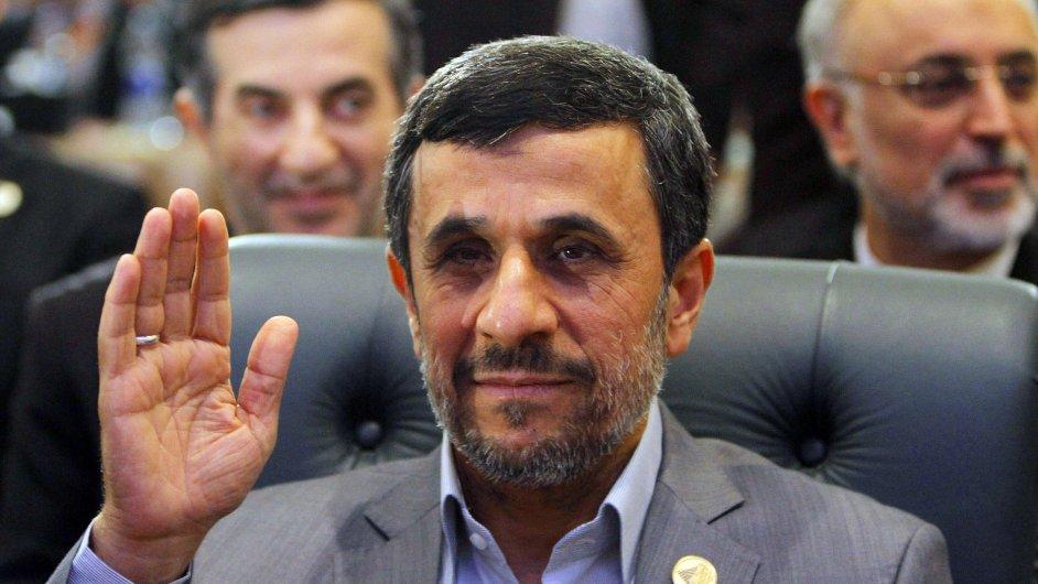 Mahmúd Ahmadínežád na návštěvě v Káhiře