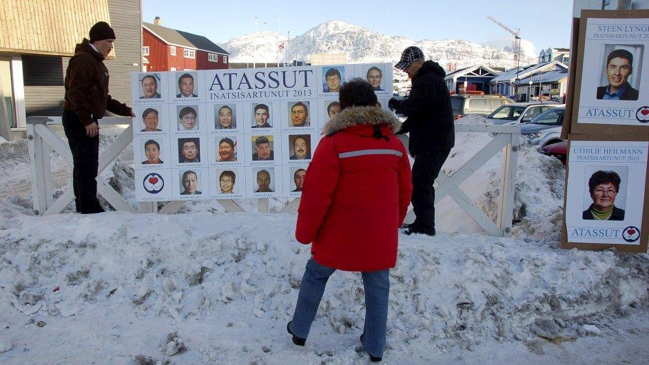 Grónsko před volbami.