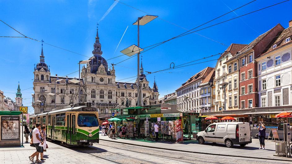 Hlavní náměstí  (Hauptplatz) v Grazu