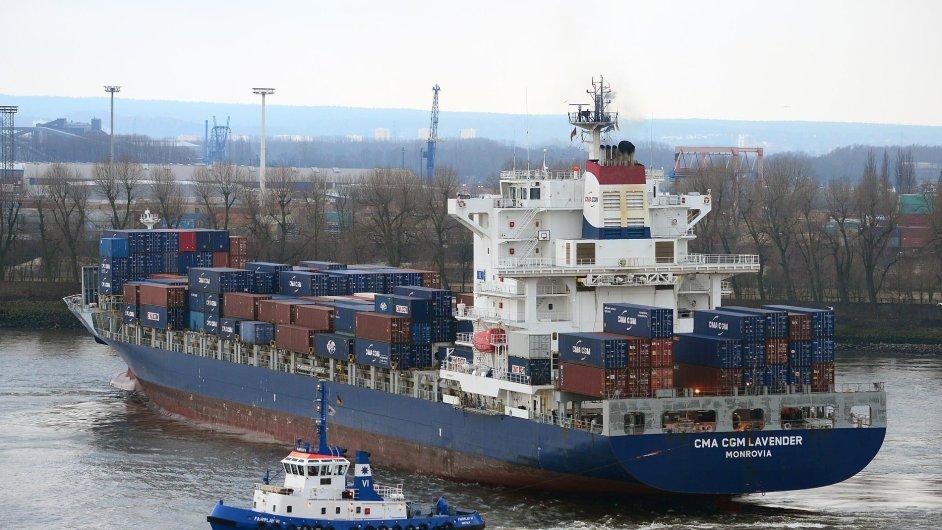 Loď CMA CGM Lavender včera vyplula na svou první plavbu v rozšířené kontejnerové lince FEMEX 1