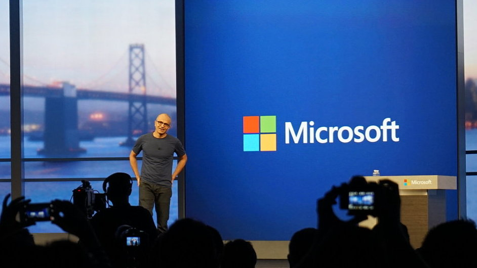 Satya Nadella na konferenci Microsoft Build