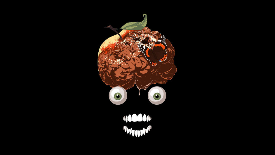 Ilustrace k povídce Jablko