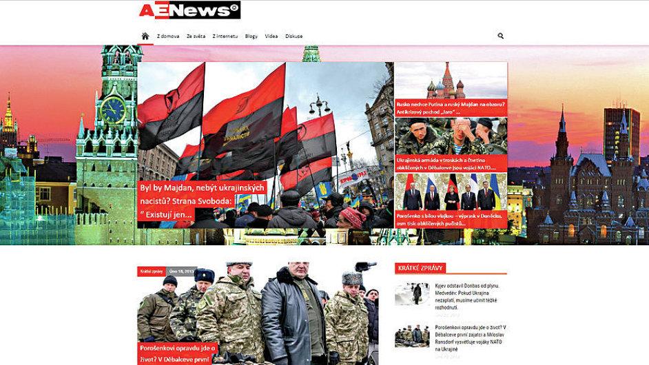 Aeronet.cz kontrarozvědka BIS označila za zdroj nebezpečné proruské propagandy.