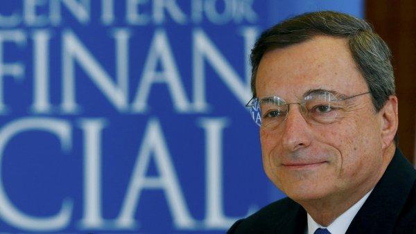 Šéf Evropské centrální banky Mario Draghi (ilustrační foto).