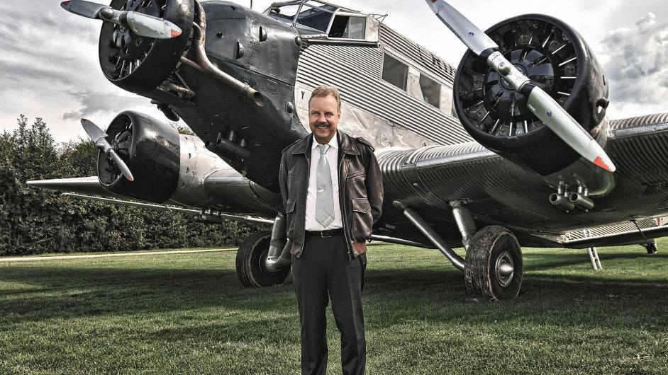 Dieter Morszeck: majitel a prezident firmy Rimowa s firemním letounem Junkers 52.