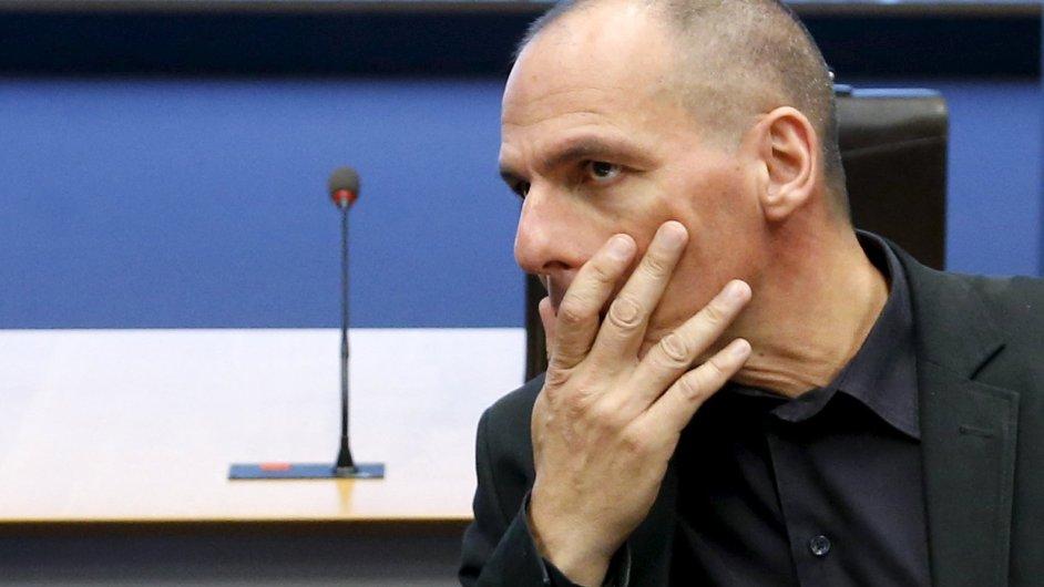 Řecký ministr financí Janis Varufakis v Lucemburku.