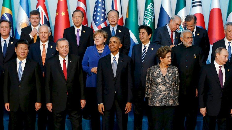 Lídři G20 na summitu řešili například problémy migrace nebo terorismus.