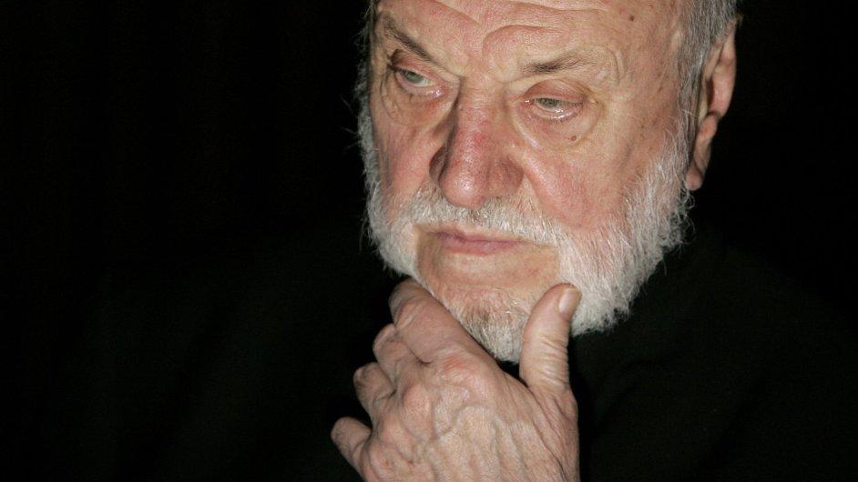 Kurt Masur na snímku z tiskové konference v Berlíně roku 2006.