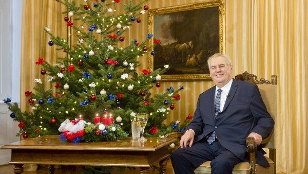 Vánoční poselství prezidenta Miloše Zemana.