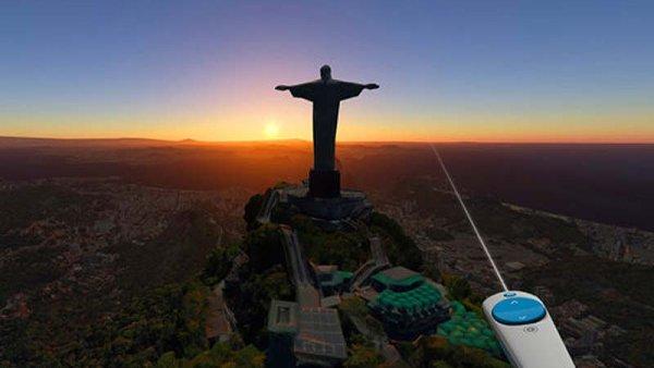 Pomocí Google Earth VR se během pár sekund ocitáme třeba v Rio de Janeiru.