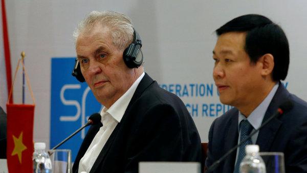 Návštěva prezidenta ve Vietnamu může zlepšit i nelichotivou obchodní bilanci.