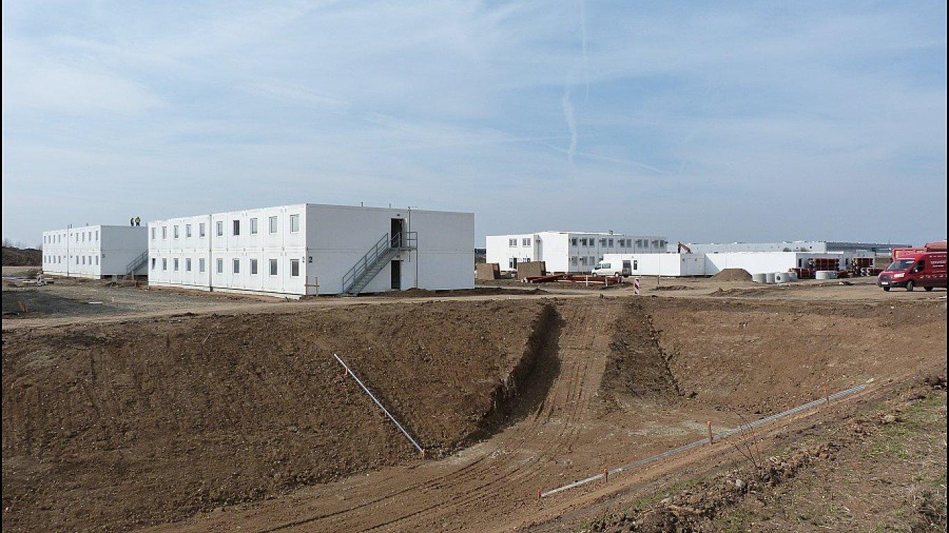 Občanské zázemí projektu Triangle City v průmyslové zóně u Žatce.