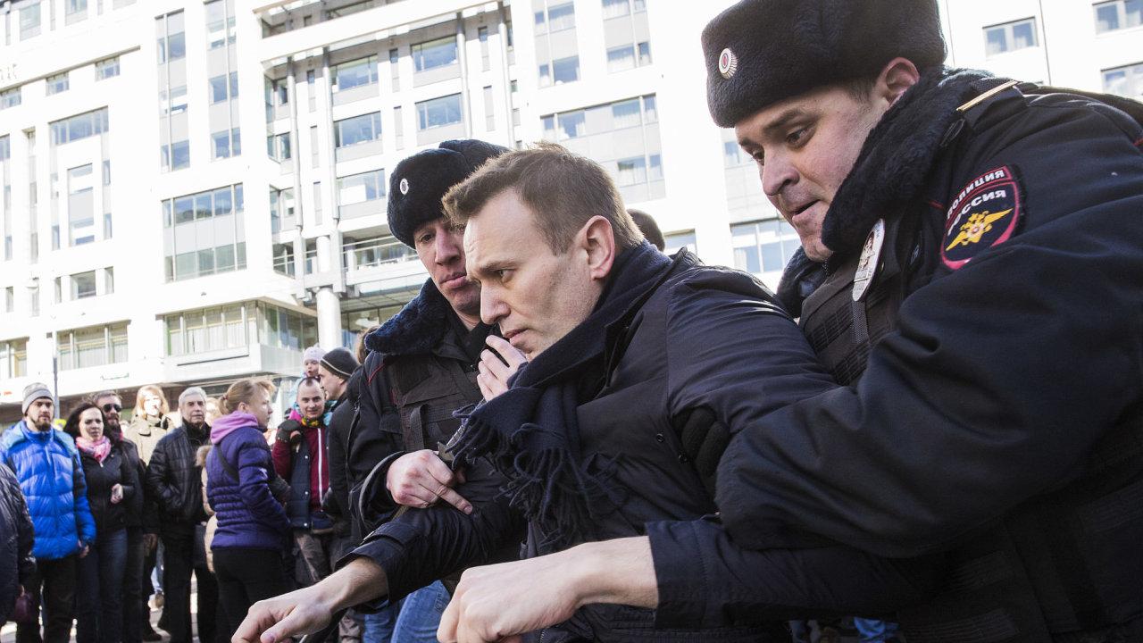 Alexej Navalnyj, zatýkání