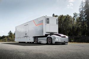 Volvo Trucks představuje přepravní řešení budoucnosti využívající autonomní užitkové elektromobily