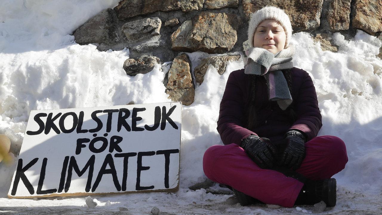 16letá švédská aktivistka v boji proti změně klimatu Greta Thunbergová