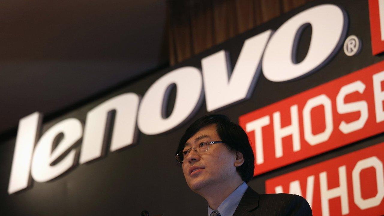 Šéf čínské firmy Lenovo Jang Jüan-čching.