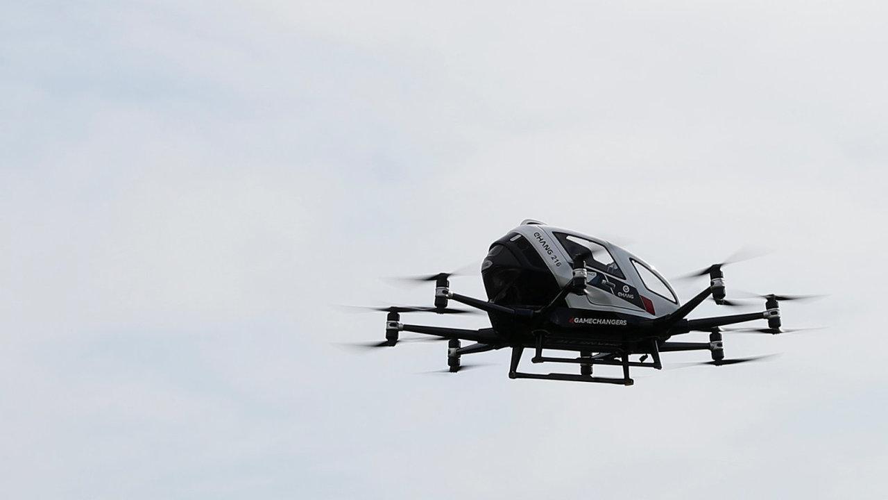 Zkušební let dronu E-chang 216 ve Vídni.