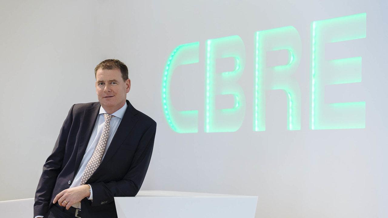 Richard Curran, generální ředitel české pobočky mezinárodní realitní aporadenské firmy CBRE.