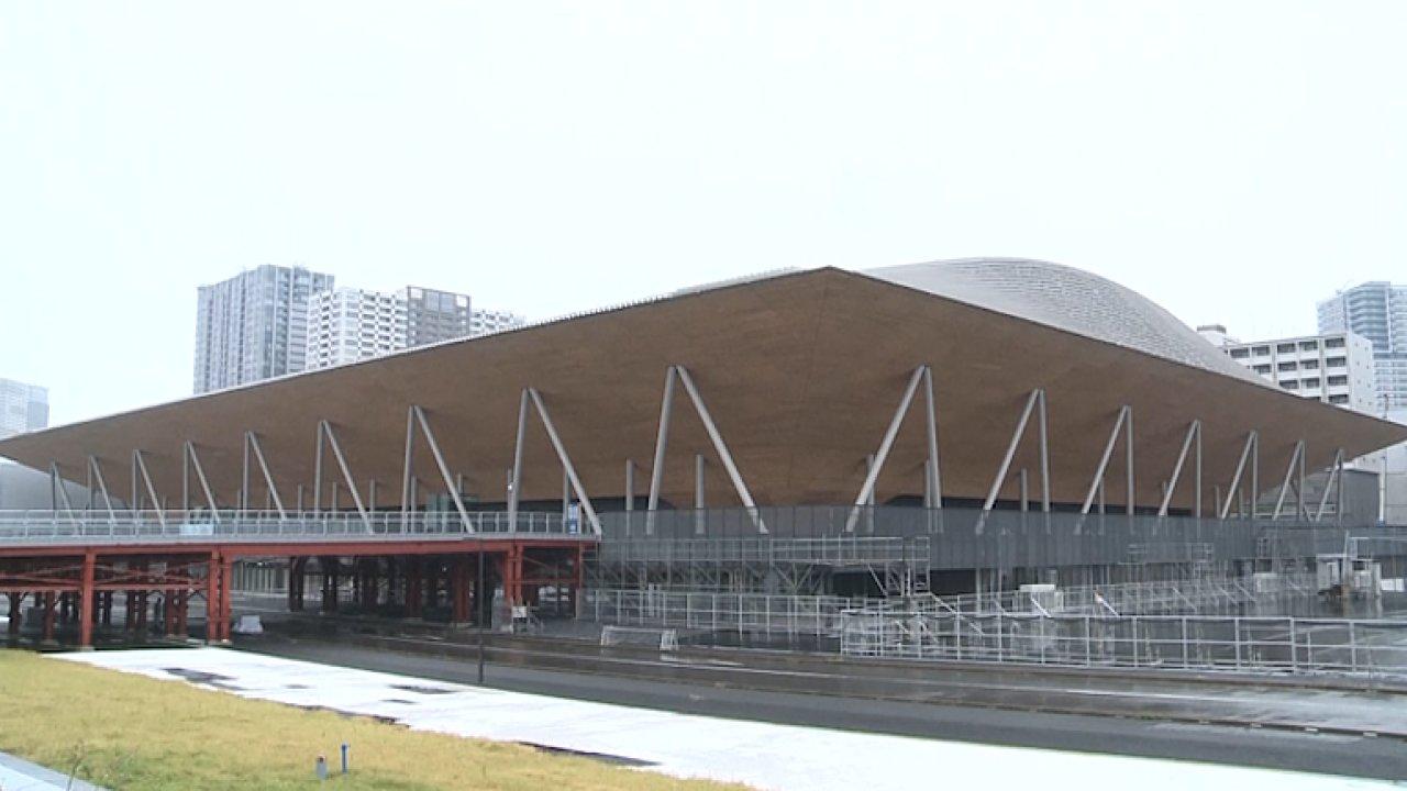 Hala pro gymnasty na tokijské olympiádě je připravena. Nahlédněte dovnitř