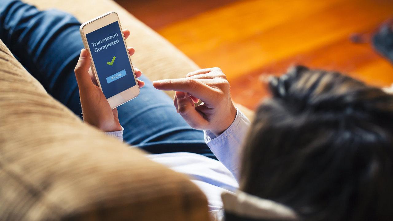 mobilní bankovnictví, mobil, banka