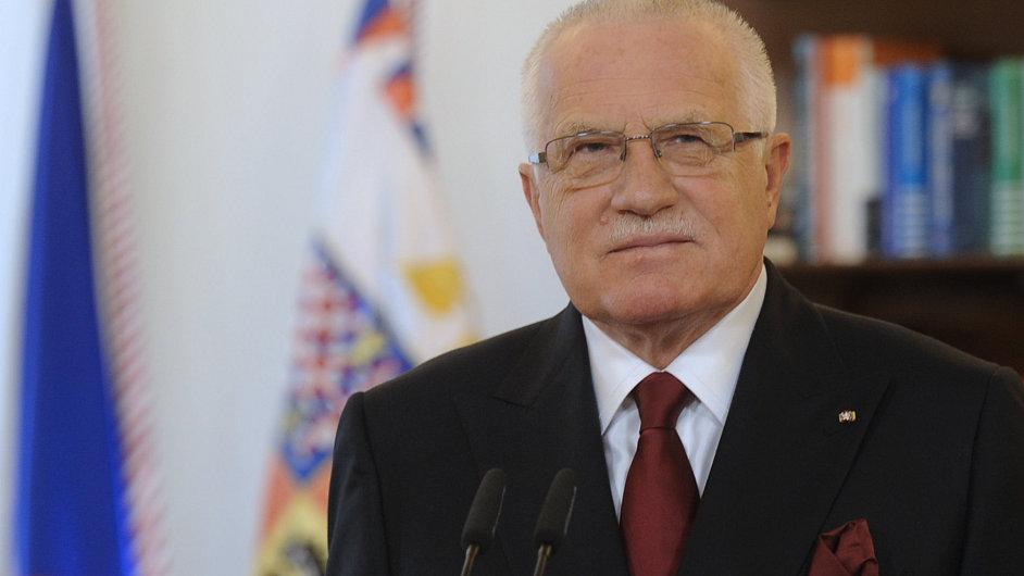 Václav Klaus při novoročním projevu