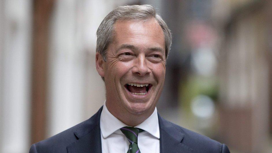 Nigel Farage, šéf britských euroskeptiků UKIP