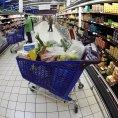 Francouzsk� supermarket, ilustra�n� foto