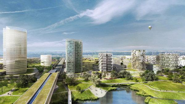 """V Aspernu rozhodně nemá vzniknout jen noclehárna, ale takzvané """"město krátkých cest"""", ve kterém se bude míchat bydlení, práce, obchody i vyžití pro volný čas."""