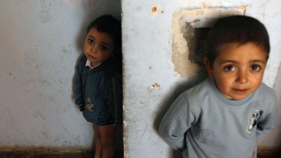 Romské děti, ilustrační foto