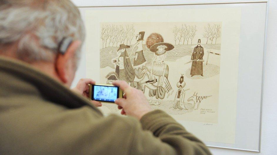 Snímek z výstavy Adolfa Borna