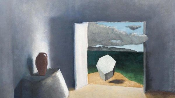 Na snímku je detail malby Ateliér od Josefa Šímy z roku 1934. S cenou 28,8 milionu korun šlo vloni o třetí nejdráže prodaný obraz na tuzemských aukcích.