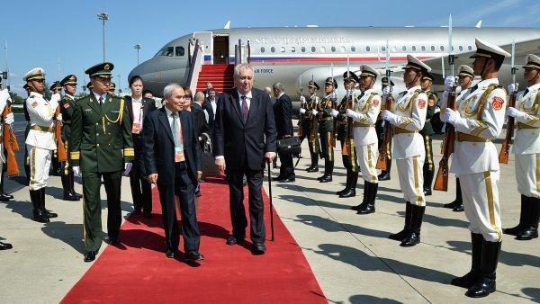 Prezident Miloš Zeman při státní návštěvě Číny.