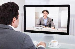 Firmy začínají používat k výběru zaměstnanců videohovory, ilustrace