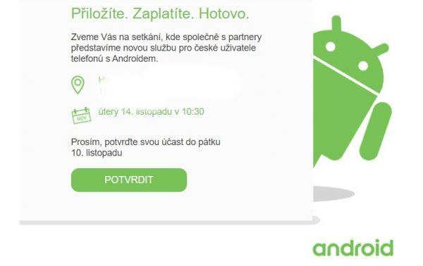 android pay v Česku