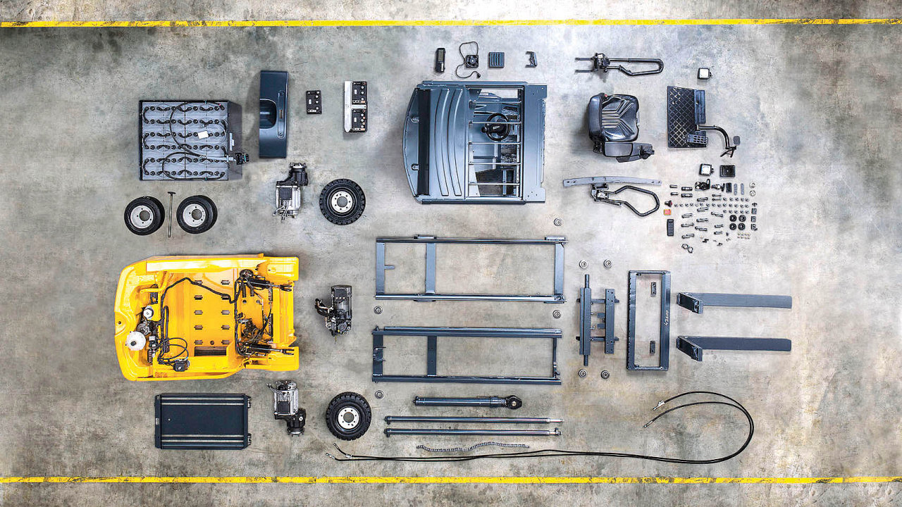 Kvalitní repase znamená kompletní rozebrání vozíku a kontrola všech detailů.