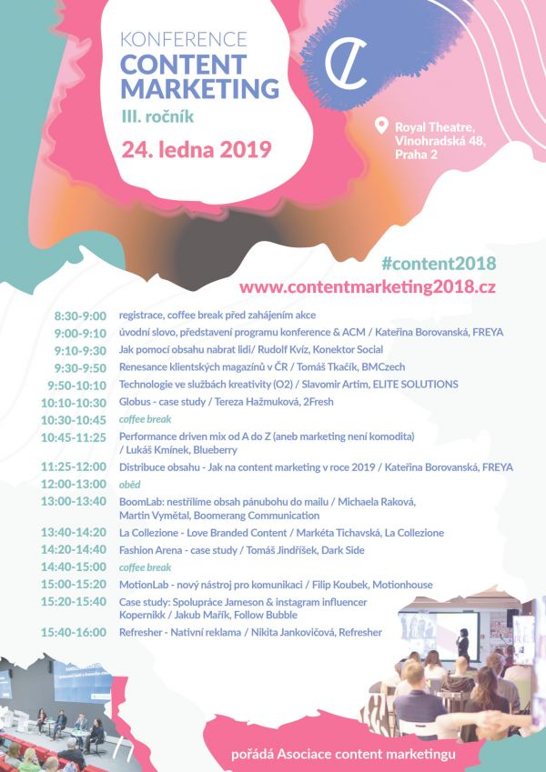 Konference content marketing 24 1 2019 program