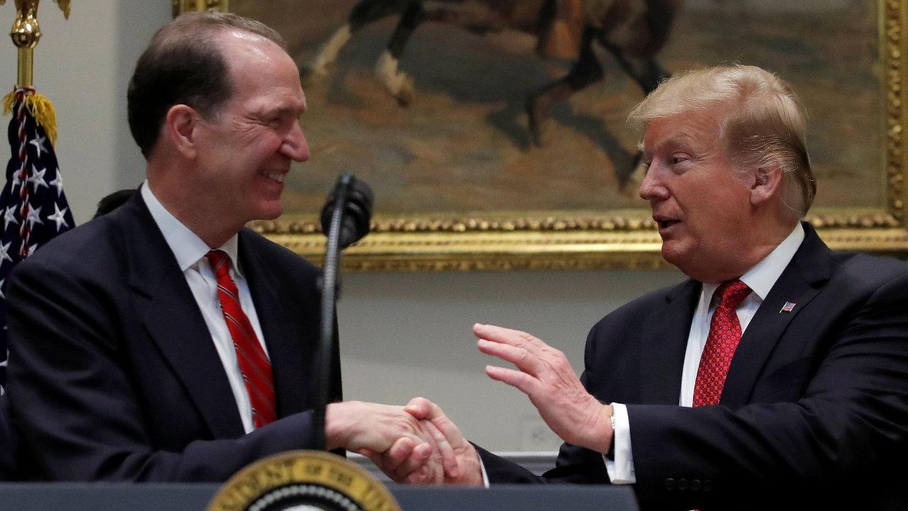 Americký prezident navrhl na post šéfa Světové banky Davida Malpasse.