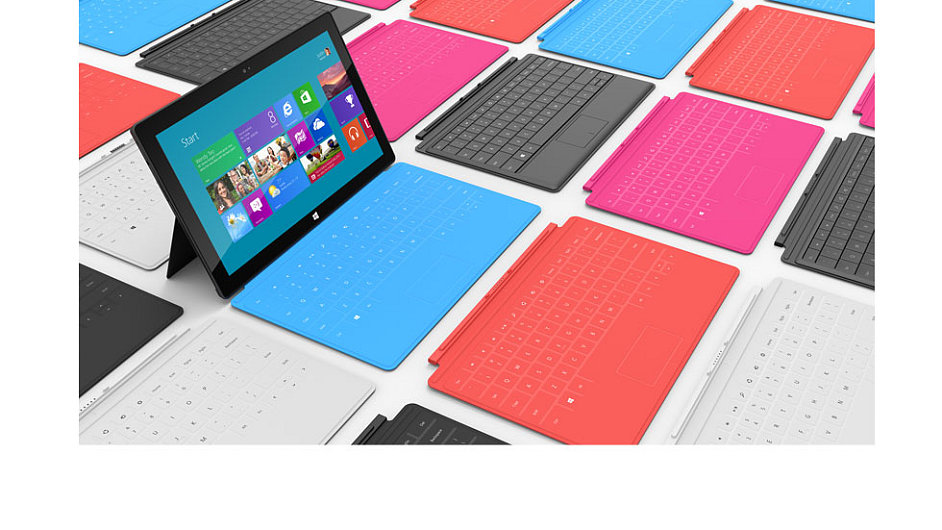 Tablet Microsoft Surface s obalem Touch Cover