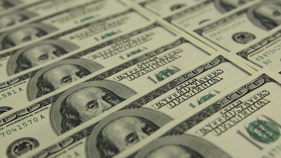 Americký dolar vystoupal na dvanáctileté maximum (ilustrační foto).