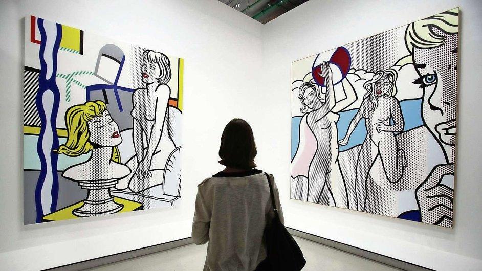 Centre Pompidou ukazuje Lichtensteinovu erudovanost a designérský talent.
