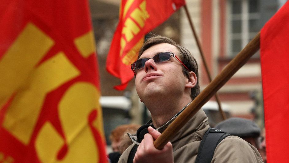 Demonstrace KSČM, ilustrační foto
