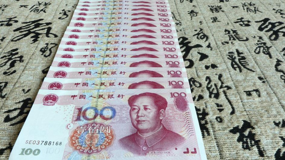 Čínský jüan neboli renminbi (Ilustrační foto)