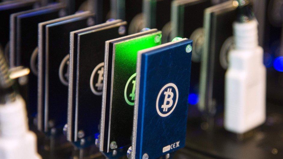 Digitální měna Bitcoin.