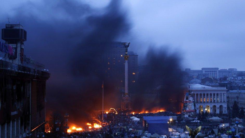 Kyjevský Majdan ve čtvrtek ráno